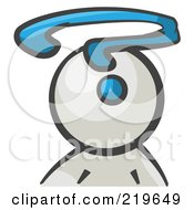 Royalty Free RF Clipart Illustration Of A White Man Avatar With A Question Mark