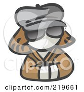 Royalty Free RF Clipart Illustration Of A White Woman Avatar Incognito