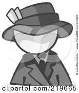 Royalty Free RF Clipart Illustration Of A White Man Avatar Dressed For A Night On The Town