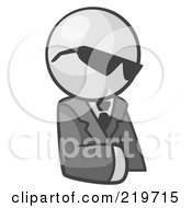 Royalty Free RF Clipart Illustration Of A White Man Businessman Avatar Wearing Shades by Leo Blanchette