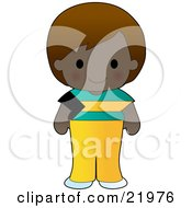 Cute Bahamian Girl Wearing A Flag Of Bahamas Shirt Clipart Illustration by Maria Bell