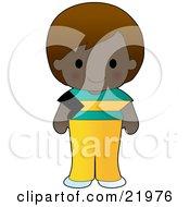 Cute Bahamian Girl Wearing A Flag Of Bahamas Shirt