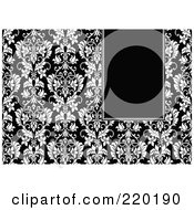Royalty Free RF Clipart Illustration Of A Formal Black And White Floral Invitation Border With Copyspace 45