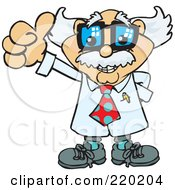 Royalty Free RF Clipart Illustration Of A Senior Professor Holding A Thumb Up
