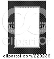 Royalty Free RF Clipart Illustration Of A Formal Invitation Design Of A Large White Box Over A Dark Pattern