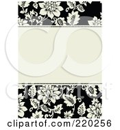 Royalty Free RF Clipart Illustration Of A Formal Floral Invitation Border With Copyspace 1