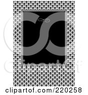Royalty Free RF Clipart Illustration Of A Formal Invitation Design Of A Black Box Over A Scales Pattern