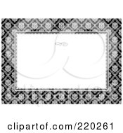 Royalty Free RF Clipart Illustration Of A Formal Floral Invitation Border With Copyspace 2