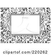 Royalty Free RF Clipart Illustration Of A Formal Invitation Design Of A White Box Over An Ivy Pattern