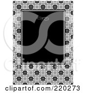 Royalty Free RF Clipart Illustration Of A Formal Invitation Design Of A Black Box Over A Mosaic Circle Pattern