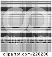 Royalty Free RF Clipart Illustration Of A Seamless Backgorund Of Gray And Black Plaid