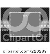 Royalty Free RF Clipart Illustration Of A Formal Invitation Design Of A Gray Box Over Gray Ribbon On Black