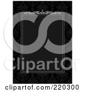 Royalty Free RF Clipart Illustration Of A Formal Invitation Design Of A Black Box Bordered With White On Black
