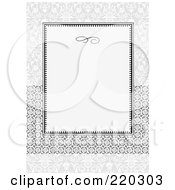 Royalty Free RF Clipart Illustration Of A Formal Invitation Design Of A Gray Box Over Circle Ribbon On Gray