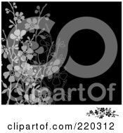 Royalty Free RF Clipart Illustration Of A Formal Invitation Border With Blossoms 9