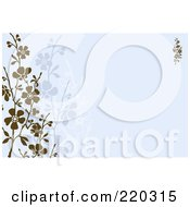 Royalty Free RF Clipart Illustration Of A Formal Invitation Border With Blossoms 5