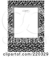 Royalty Free RF Clipart Illustration Of A Formal Floral Invitation Border With Copyspace 5