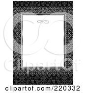 Royalty Free RF Clipart Illustration Of A Formal Invitation Design Of A White Box Over A Dark Circle Pattern