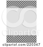 Royalty Free RF Clipart Illustration Of A Formal Invitation Design Of Black Circles Bordering Gray Space
