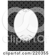 Royalty Free RF Clipart Illustration Of A Formal Invitation Design Of A White Oval Over A Pattern