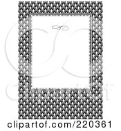 Royalty Free RF Clipart Illustration Of A Formal Invitation Design Of A White Box Over A Row Pattern