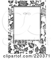 Royalty Free RF Clipart Illustration Of A Formal Floral Invitation Border With Copyspace 8