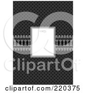 Royalty Free RF Clipart Illustration Of A Formal Invitation Design Of A Small White Box Over A Dark Pattern