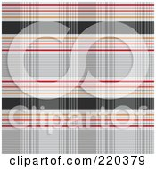 Royalty Free RF Clipart Illustration Of A Seamless Backgorund Of Gray Orange And Red Plaid