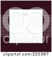 Royalty Free RF Clipart Illustration Of A Formal Invitation Design Of A White Box Over A Violet Background