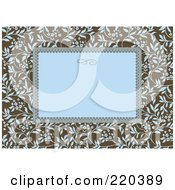 Royalty Free RF Clipart Illustration Of A Formal Floral Invitation Border With Copyspace 6
