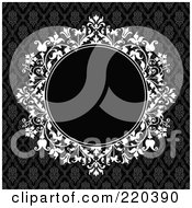 Royalty Free RF Clipart Illustration Of A Formal Floral Invitation Border With Copyspace 9