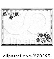 Royalty Free RF Clipart Illustration Of A Formal Floral Invitation Border With Copyspace 10 by BestVector
