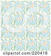 Royalty Free RF Clipart Illustration Of A Seamless Repeat Background Of Blue Flowers by Cherie Reve