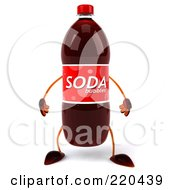 Royalty Free RF Clipart Illustration Of A 3d Soda Bottle Facing Front