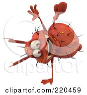 Royalty Free RF Clipart Illustration Of A 3d Rodney Germ Character Performing A Hand Stand