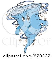 Royalty Free RF Clipart Illustration Of A Whirling Blue Tornado Character