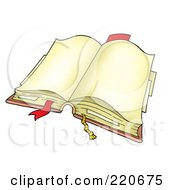 Royalty Free RF Clipart Illustration Of An Open Book With Tabbed Blank Pages by visekart