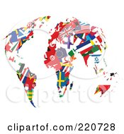Royalty Free RF Clipart Illustration Of International Flag Continents