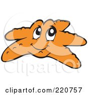 Royalty Free RF Clipart Illustration Of A Happy Orange Starfish