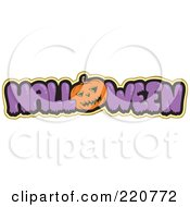 Purple Halloween Text With A Pumpkin As The O Outlined In Yellow by visekart