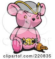 Pink Pirate Teddy Bear With A Peg Leg