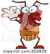 Royalty Free RF Clipart Illustration Of A Happy Ant Gesturing Ok by Dennis Holmes Designs