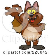 Royalty Free RF Clipart Illustration Of A Happy Bat Gesturing Ok