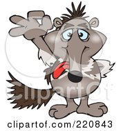 Royalty Free RF Clipart Illustration Of A Happy Anteater Gesturing Ok by Dennis Holmes Designs