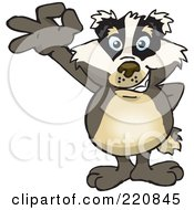 Royalty Free RF Clipart Illustration Of A Happy Badger Gesturing Ok by Dennis Holmes Designs