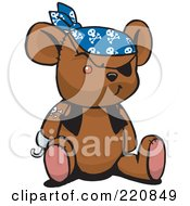 Brown Pirate Teddy Bear With A Hook Hand