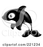 Royalty Free RF Clipart Illustration Of An Adorable Orca Whale by visekart