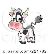 Royalty Free RF Clipart Illustration Of A Surprised Cow