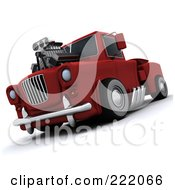 Royalty Free RF Clipart Illustration Of A 3d Super Charged Truck by KJ Pargeter