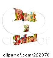 Royalty Free RF Clipart Illustration Of 3d Back 2 School Floating 3